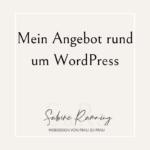 Mein Angebot rund um WordPress