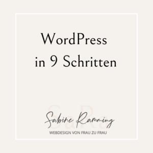 WordPress in 9 Schritten