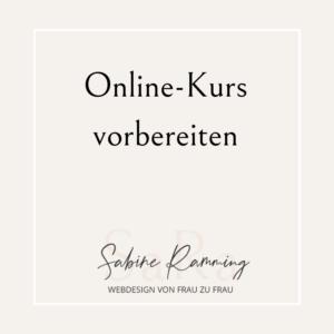 Online-Kurs vorbereiten