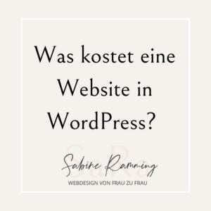 Was kostet eine Website in WordPress