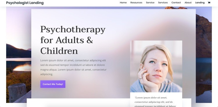 Feminines Webdesign psychtherapy