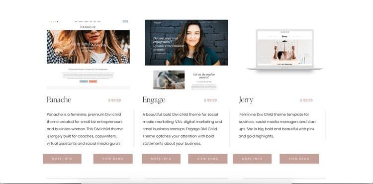 10 + Feminine Wordpress Themes für Unternehmerinnen 4