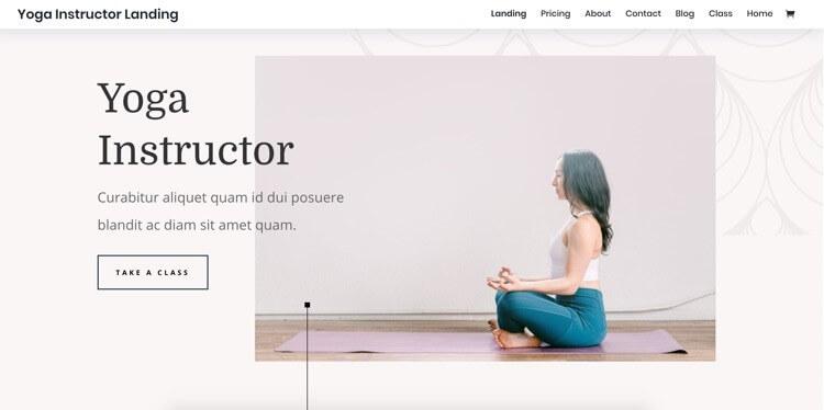 Feminines Webdesign Yoga Instructor