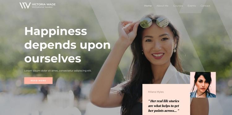 10 + Feminine Wordpress Themes für Unternehmerinnen 12