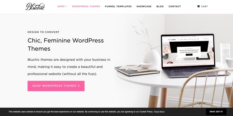 10 + Feminine Wordpress Themes für Unternehmerinnen 8