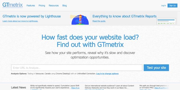 GTmetrix perfomance Tool