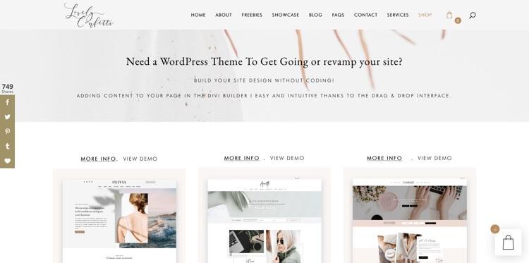 10 + Feminine Wordpress Themes für Unternehmerinnen 5